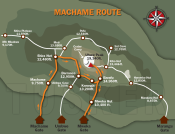 De Kili Machame Route 2015